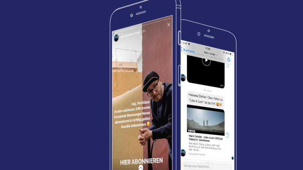 Messenger Marketing Mark Forster erzielt Öffnungsraten von 98 Prozent