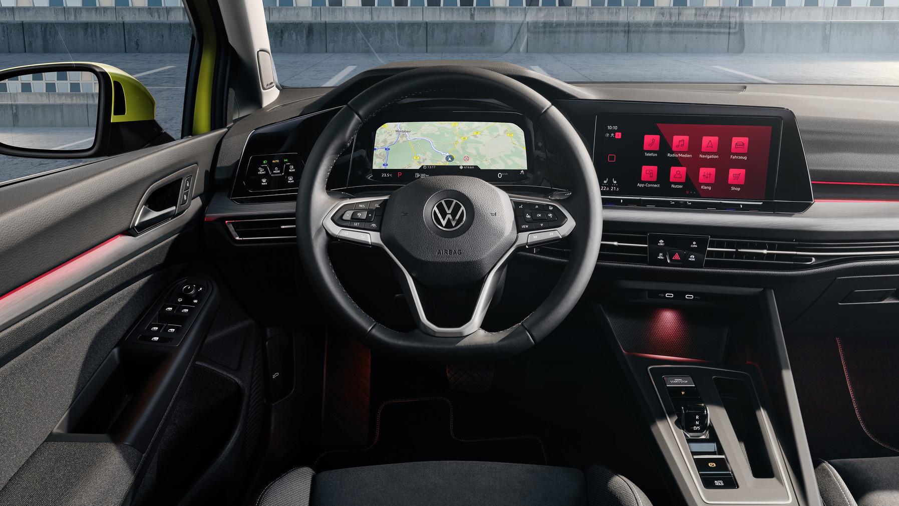 hallo volkswagen der neue golf 8 ist digitalisiert. Black Bedroom Furniture Sets. Home Design Ideas