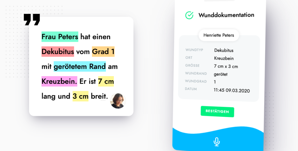 Pflegedokumentation, Voize-App, Voice