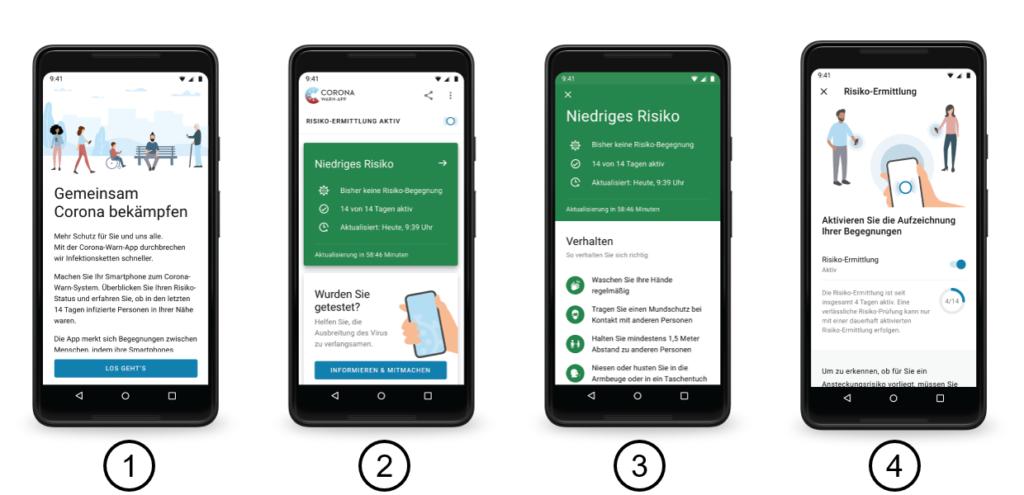 Screenshot der Corona Warn App des Bundes von SAP und Telekom, Veröffentlicht auf Github