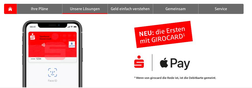 Apple Pay mit girocard debitkarte EC-Karte