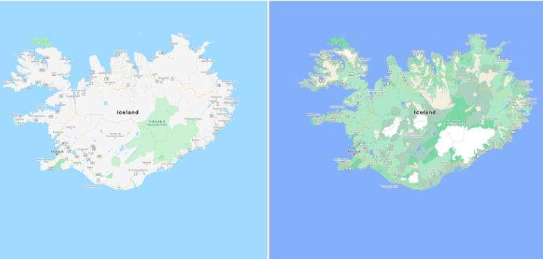 Google Maps neues Farbschema