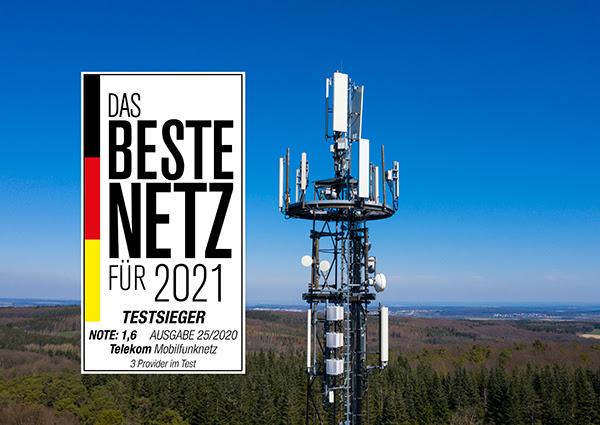 Telekom Testsieger im Computerbild Mobilfunk-Test