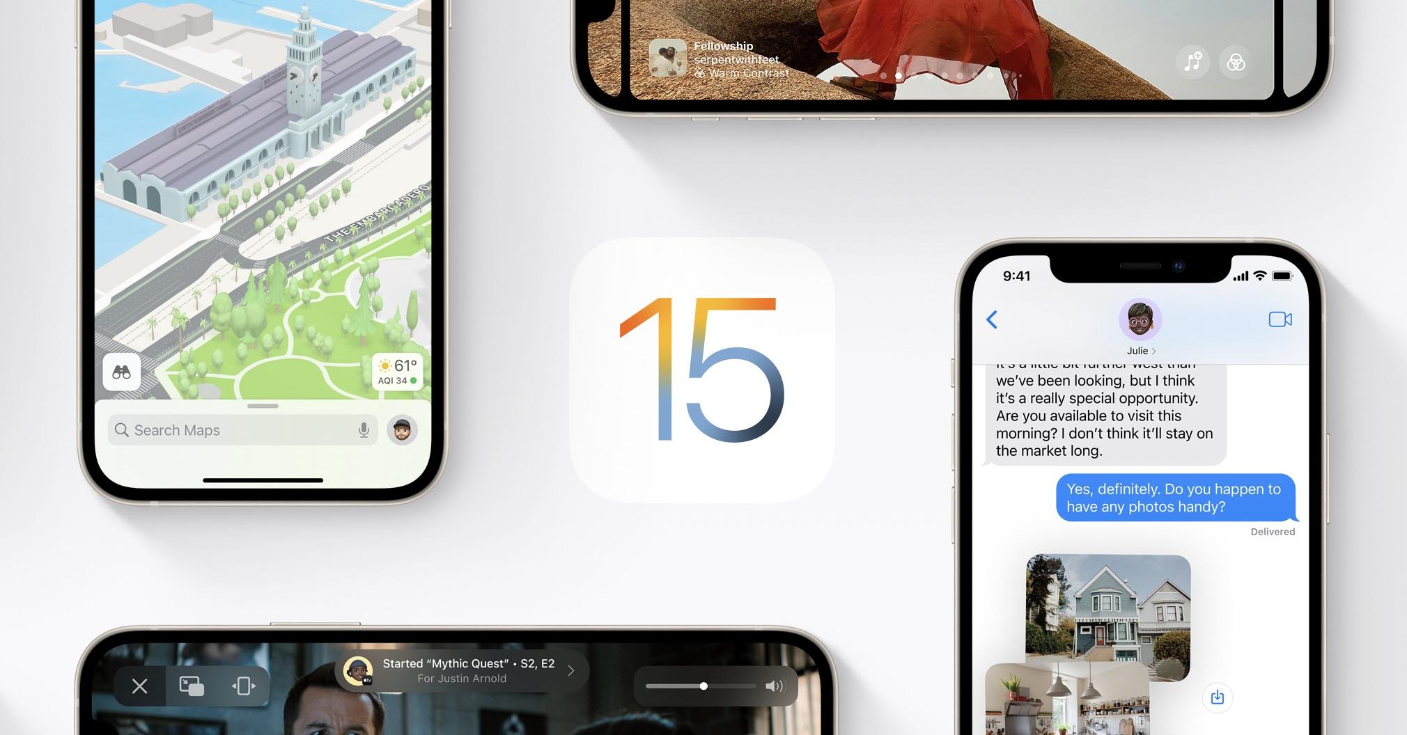 Das neue iOS 15 ab 20.09.2021
